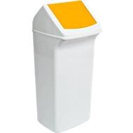 Wertstoffsammler Flip, 40 Liter, mit Deckel, gelb