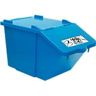 Wertstoffsammler Ökonom, stapelbar, 45 l, blau