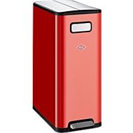 WESCO afvalverzamelaar Big Double Master, 2 sorteerbakken van 20 liter, B 532 X D 275 x H 661 mm rood,