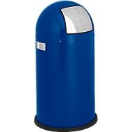 WESCO afvalverzamelaar Pushboy, 50 liter, Ø 390 x H 755 mm, blauw