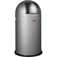 WESCO afvalverzamelaar Pushboy, 50 liter, Ø 390 x H 755 mm, zilvergrijs