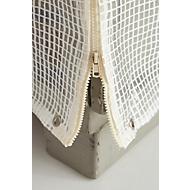 Wetterfeste Abdeckhaube für Gitterbox, 2 Reißverschlüsse, transparent
