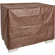 Wetterfeste Abdeckhaube für Gitterbox, ohne Reißverschluss, braun