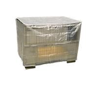 Wetterfeste Abdeckhaube füt Gitterbox, ohne Reißverschluss, transparent