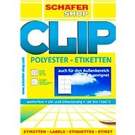 Wetterfeste Etiketten, 99,1 x 42,3 mm, transp. matt, 20 Blatt