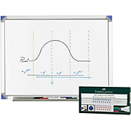 Whiteboard 900 x 1200 mm + 4 Faber Castell Whiteboardmarker GRATIS