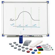 Whiteboard 90120, aluminium frame + whiteboard-accessoireset standaard GRATIS