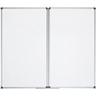 Whiteboard-Klapptafel MAULstandard, grau kunststoffbeschichtet, magnethaftend, 2 Flügel, B 1500 x H 1000 mm