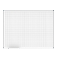 Whiteboard MAULoffice, fijn raster 10 x 10 mm, 900 x 1200 mm