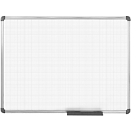 Whiteboard MAULoffice, fijn raster 10 x 10 mm, 900 x 1200 mm