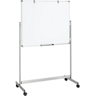 Whiteboard Maulpro Fixed Mobil, doppelte Arbeitsfläche, mobil, mit gratis Starter-Set, 100 x120 mm