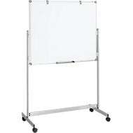 Whiteboard Maulpro Fixed Mobil, doppelte Arbeitsfläche, mobil, mit gratis Starter-Set, 1000 x1200 mm