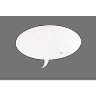 Whiteboard-module Skin, in de vorm van een tekstballon, magnetisch, 750 x 1150 mm