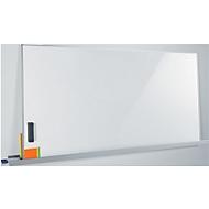 Whiteboard Sigel Business meet up, Metall weiß lackiert, magnethaftend, mobil, B 900 x H 1800 mm