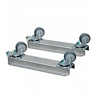 Wielset BIO-CIRCLE®, voor wastafel SL Compact, 2 VA rails met stop/stuurwielen, zilver