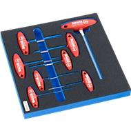 WIHA zeskant-schroevendraaierset voor kastenserie WSK, 8-delig, in hardschuiminleg