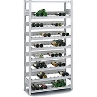 Wijnflessenrek, basissectie, Steeksysteem, 7 inzetstukken, 1750 x 1000 x 300 mm