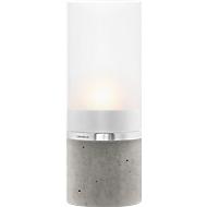 Windlicht blomus® FARO, Glas satiniert & Edelstahl matt, H 188 mm, Ø 70 mm, ideal für Teelichter