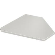 Winkelplatte, 90°, B 800 x T 800 mm, lichtgrau