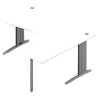 Winkelschreibtisch ARLON-OFFICE, B 1600 x T 1200 x H 730 mm, weiß