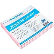 WIPEX Mikrofaser-Wischtuch, mehrfach waschbar, schlierenfreie Reinigung, 50 Stück, rosa