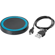 Wireless Charger Round schwarz/blau