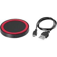 Wireless Charger Round schwarz/rot
