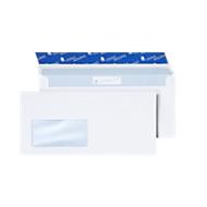 Witte enveloppen, 110 x 220 mm (DL) 80 g/m², met venster, 500 stuks