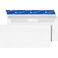 Witte enveloppen, 110 x 220 mm (DL), 80 g/m², zonder venster, 1000 stuks