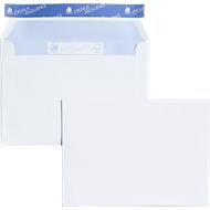 Witte enveloppen. 114 x 162 mm (C6), 100 g/m²,zonder venster, 500 stuks