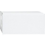 Witte golfkartonnen vouwdozen, enkele golf, 250 x 200 x 200 mm