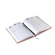 Wochenkalender, A5, 160 Seiten, B 146 x T 12 x H 210 mm, Werbedruck 100 x 80 mm, anthrazit