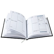 Wochentimer Tucson, 160 Seiten, B 150 x T 15 x H 210 mm, Werbedruck 100 x 80 mm, blau, Auswahl Werbeanbringung optional