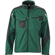 Workwear-Softshell Jacket, darkgr/bl, M