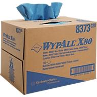 WYPALL® Chiffons d'essuyage X-80, en Hydroknit, en boîte distributrice de 160 chiffons, 1 épaisseur, bleu acier