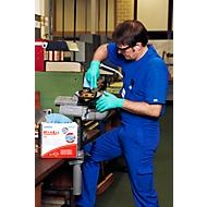 WYPALL® Chiffons d'essuyage X-80, en Hydroknit, en carton de 400 chiffons, 1 épaisseur, bleu acier