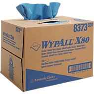 WYPALL* poetsdoek X-80, van Hydroknit materiaal, 160 doeken, 1-laags, staalblauw
