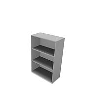 X-TIME-WORK boekenkast, 3 OH, B 860 x D 430 x H 1310 mm, alu