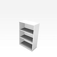 X-TIME-WORK boekenkast, 3 OH, B 860 x D 430 x H 1310 mm, wit