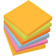 Zelfklevende notitieblaadjes Sigel Business, 75 x 75 mm, 6 blokken a 100 vellen
