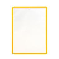 Zichtpanelen A4, 5 stuks, geel