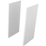Zijwanden, 2 ordnerhoogten, 2 stuks, H 860 x B 30 x D 430 mm, wit