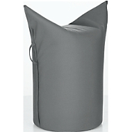 Zipfel Polsterhocker, Outdoor Stoff, Sitzhöhe 500 mm, inkl. Griffschlaufe, carbon
