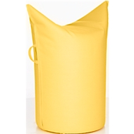 Zipfelhocker WERTHER, Outdoor Stoff, Sitzhöhe 500 mm, inkl. Griffschlaufe, lemon