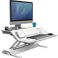 Zit-sta Workstation Lotus™ staal met microban-coating, wit