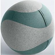 Zitbal DOTTO, met stofbekleding, Ø 650 mm, grijs/turquoise
