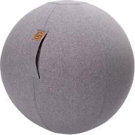 Zitbal FELT, vilt-imitatie 100% polyester, afwasbaar, scheurvast, draaglus, grijs