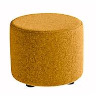 Zitkruk TAPA Round, multiplex, gestoffeerd, bekleding van scheerwol, oranje