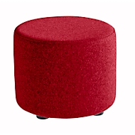 Zitkruk TAPA Round, multiplex, gestoffeerd, bekleding van scheerwol, rood