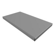Zitkussen QUANDOS BOX, B 800 x D 440 x H 50 mm, grijs